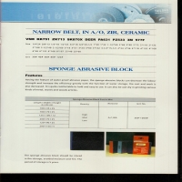 NARROW BELT, IN AO, ZIR, CERAMIC(砂带)SPONGE ABRASIVE BLOCK(海绵磨块)