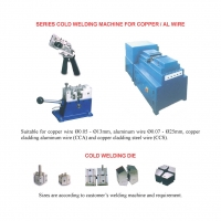 Cold welding machine and cold welding dies