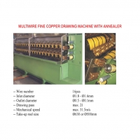 Multiwire fine copper drawing machine