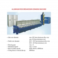 ALUMINIUM ROD BREAKDOWN DRAWING MACHINE