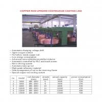 copper rod upward casting machine